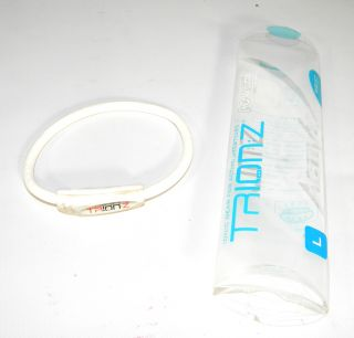 Trion Z Active Wristband Large White Magnetic Technology Bracelet Free