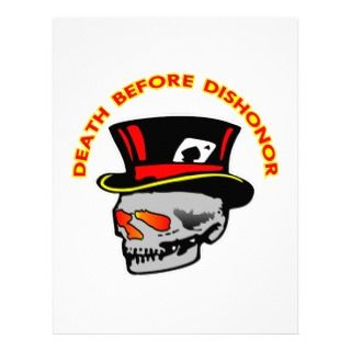 Death Before Dishonor Skull & Tophat Customized Letterhead