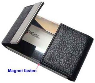 Leatherette Magnetic Business Credit ID Card Holder Case B53B