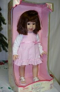 LEE MIDDLETON DOLL MACIE 20 in BROWN HAIR & EYES ARTIST REVA SCHICK