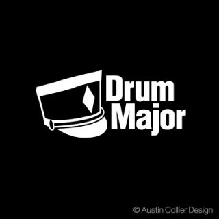 Drum Major Decal Car Truck Sticker Marching Band