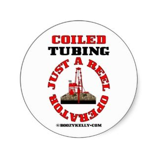 Reel Operator,Oil Field,Oil Well Servicing,Rigs Round Sticker