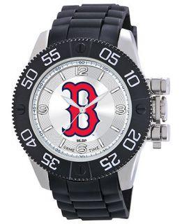Game Time Watch, Mens Boston Red Sox Black Polyurethane Strap 47mm