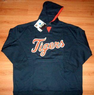 Detroit Tigers Hoodie 2XL Huge Tigers Logo Majestic MLB