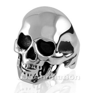 Gothic Skull Mens Stainless Steel Ring VE066 Size 8 12