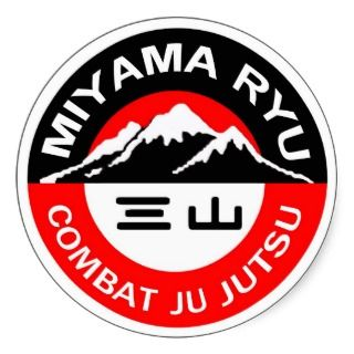 Miyama Ryu Logo Black & Red Sticker