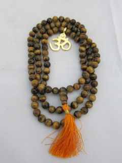 Tiger Eye(cats eye) Full Mala Meditation Prayer Ja[amala 108+1 Guru