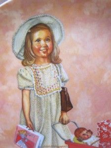VINTAGE PLATE ON HER WAY Malick Lynell Girl Kelly Doll