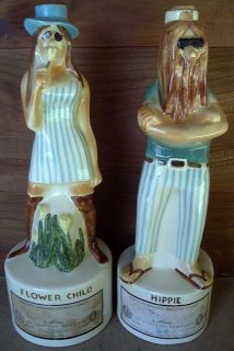 Maloney Royal Enfield Decanters Flower Child and Hippie