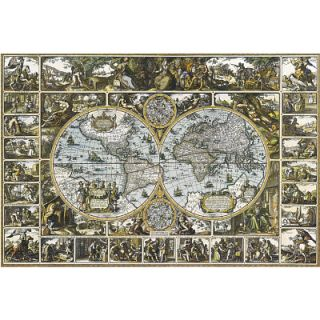 Magna Carta Old World Map Art Poster Globe Atlas Sepia