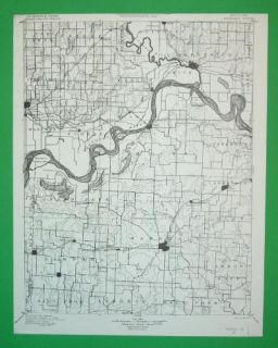 Marshall Missouri 1887 Topo Map