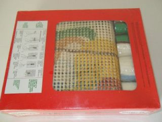 Malina Latch Hook Rug Wall Hanging Kit Holiday Sleigh Ride 15X36