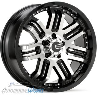 17x8 Mamba Black Wheels Rims inch Dodge RAM 5x139 7 17