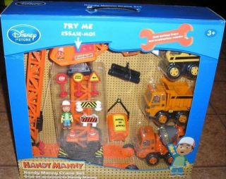 Disney Store Handy Manny Working Crane Trucks Construction Site