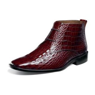 CLEARANCE Stacy Adams Mens Mancuso Ankle Boots Cognac Leather 24784