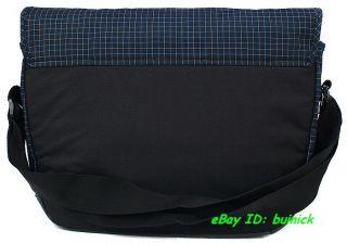 Adidas Street Messenger Bag Black Blue Checkers Travel Flight Shoulder