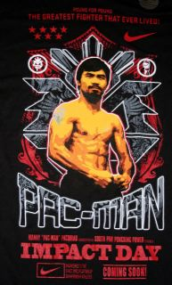 Nike Manny Pacquiao Heaven Earth T Shirt Mens s M New Dri Fit Tee Pac