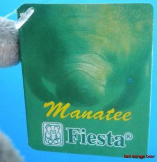 Manatee Plush 9 Marine Fiesta Stuffed Animal Soft Toy Gray Grey Ocean