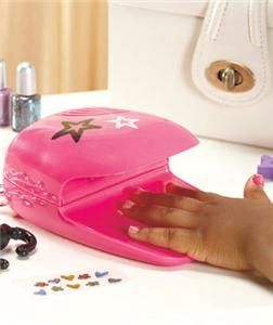 Little Girl Hair Stylist Nail Salon Playset Battery Operated