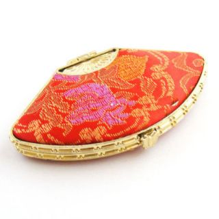 Wholesale 50pcs Chinese Embroidery Silk Makeup Mirrors