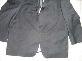 Manzoni Mens Blazer 44 Short Dark Gray 100 Wool 44S Suit Coat Jacket
