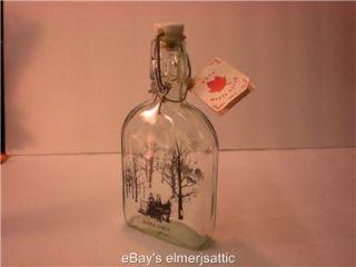 Top Wire Ceramic Empty Maple Syrup Bottle 200 ml Winter Scene