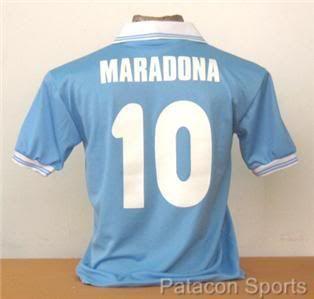Vintage Napoli MARADONA Soccer Jersey Argentina 1984 Retro New Shirt M