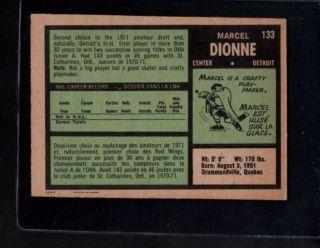 1971 72 O Pee Chee 133 Marcel Dionne RC EXMT B319188