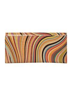 Paul Smith London Swirl print large tri fold flapover purse