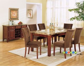 Marble Top Dining Room Set Table Contemporary Furniture