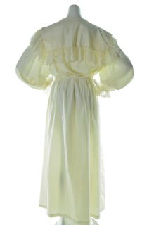 Vintage 50s Gilligan OMalley Cream Embroidered Robe Dress Womens L