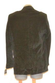 Marc Anthony Size 44 Long Black Velvet Blazer Suit Jacket