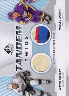 SP Game Used Tandem Twigs #TTLA Wayne Gretzky/Marcel Dionne Used Stick