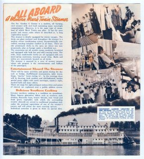 Mardi Gras by Mississippi Steamboat Brochure 1941 Greene Line Steamers