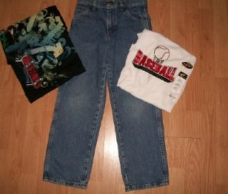 Huge Lot Boys Size 10 12 Tops Jeans Shorts SM New Lot 22