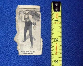 1900s 19202 RARE Tobacco Card Jess Willard Heavy Weight Boxer