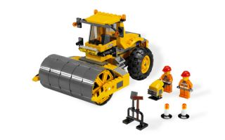 Lego Contruction Lot  7632 Crawler Crane 7746 Single Drum Roller