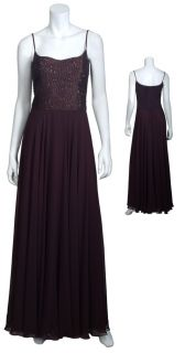 Marchesa Notte Elegant Chiffon Embroidered Beaded Evening Gown Dress 2