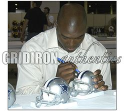 DeMarcus Ware Autographed Dallas Cowboys Mini Helmet GA