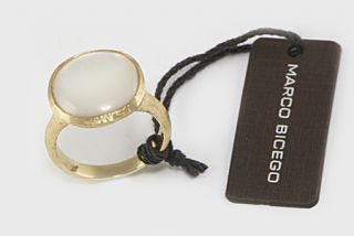 Marco Bicego Jaipur 18K Gold Mother of Pearl Ring New