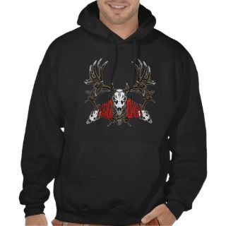Mule deer skull tag out, 3 sweatshirts