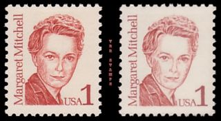 Margaret Mitchell 2168 2168B Great Americans 1c Color Variety Set MNH