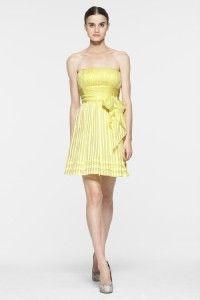 BCBG Margo Strapless Silk Cocktail Dress Sash Ties 4