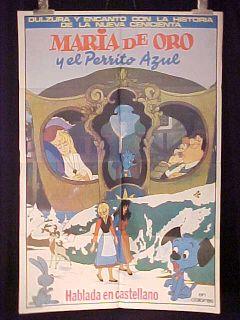 Maria DOro Und Bello Blue 1sh Movie Poster Argentina