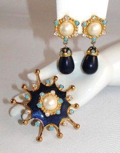 Vintage 1993 Jose Maria Barrera Roman Holiday Pin Pendant Clip