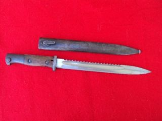 RARE WWI German Sawback Bayonet M1884 98