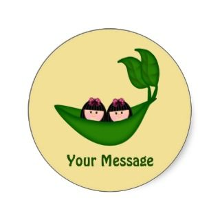 Customizable Twin Peapod Stickers