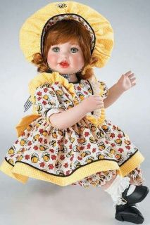 Marie Osmond Bee in My Bonnet Porcelain Doll C04397 w COA