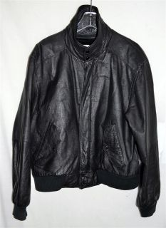 Wilsons Leather Mens Black Leather Jacket with Zip Out Faux Fur Lining