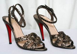 Christian Louboutin Braided Marilou Sandals Heels 9 39